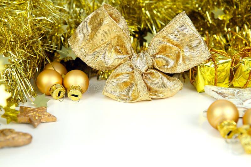 Подарочный купон в золоте стоковое фото rf