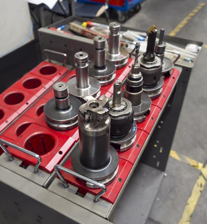 Подвергая механической обработке держатель для подвергая механической обработке центра стоковые фотографии rf