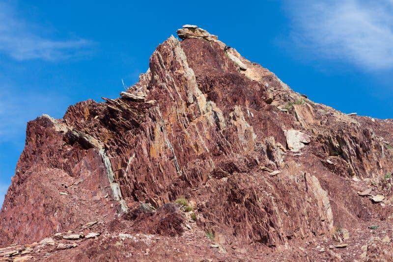Подвергли действию геологохимические слои стоковое изображение rf