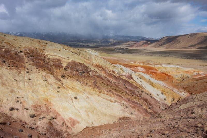 Подвергли действию геологохимические слои стоковое фото rf