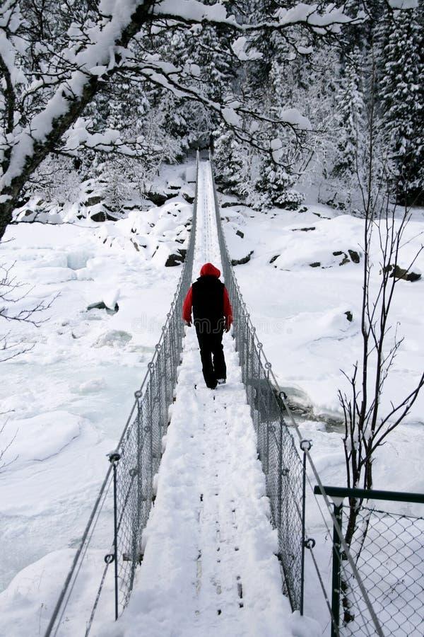 подвес человека моста стоковое фото
