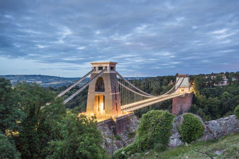 подвес clifton bristol моста стоковая фотография rf