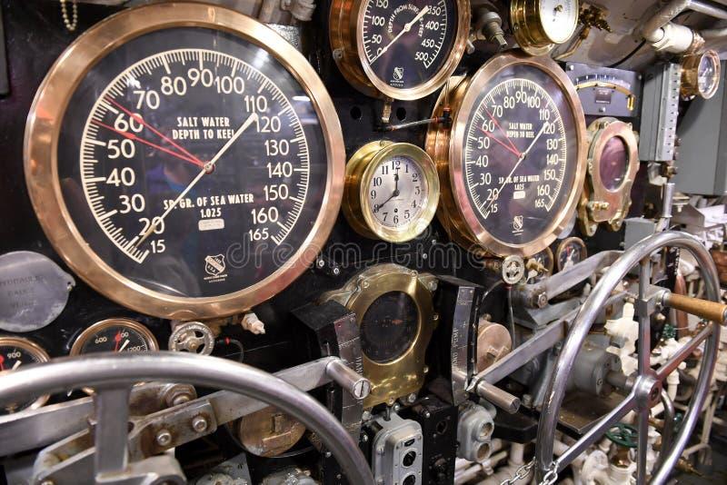 Подводная лодка USS Silvesides военно-морского флота Соединенных Штатов стоковые изображения