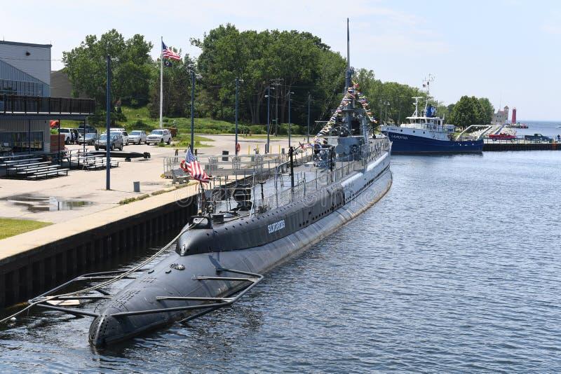 Подводная лодка USS Silvesides военно-морского флота Соединенных Штатов стоковые изображения rf