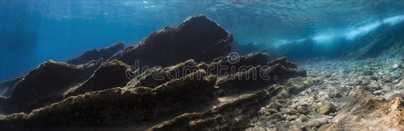 Подводная панорама стоковые фотографии rf