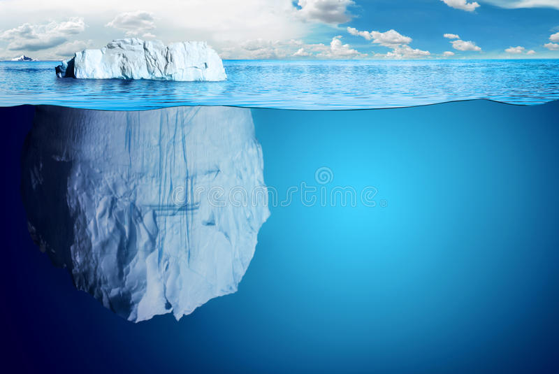 Отнесенные юг и Северный полюс и все вещи иллюстрация вектора