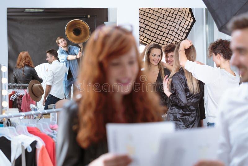 Подготовка перед встречей стоковое фото rf