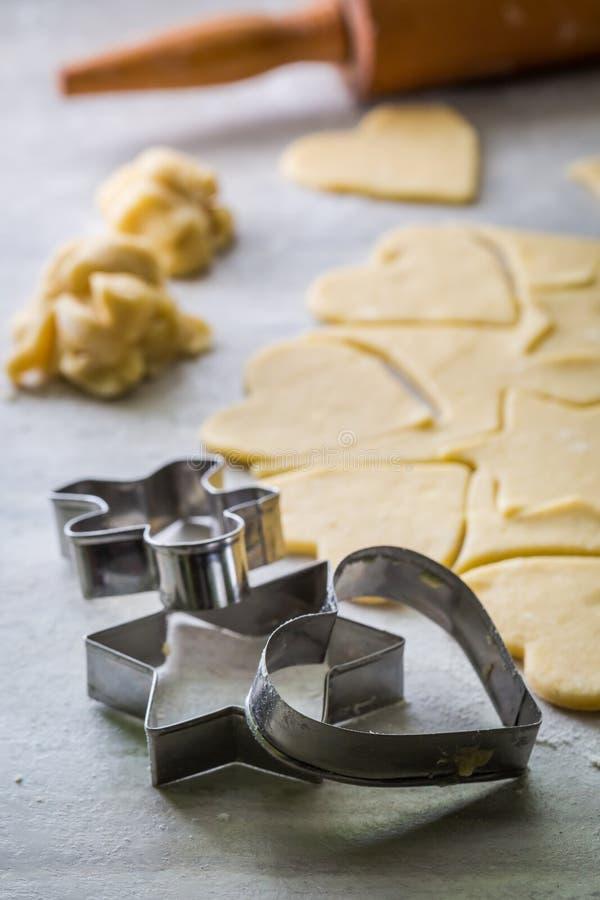 Подготовка для печь сладостные milky печенья стоковая фотография rf