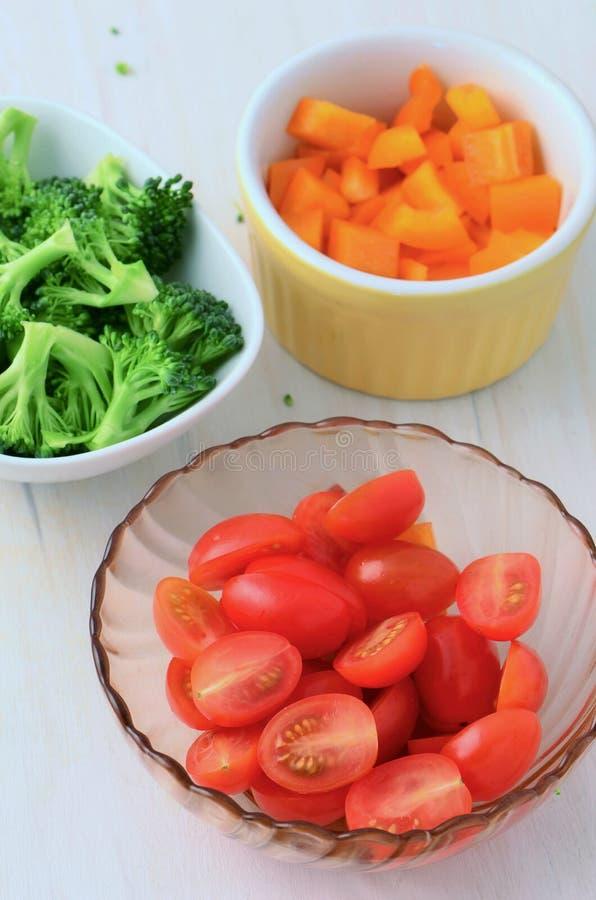 подготовленные овощи стоковое изображение rf