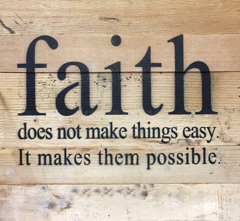 Полезные подсказки о вере стоковое изображение