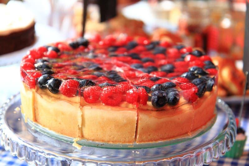 Поленики и торт голубик стоковое фото rf