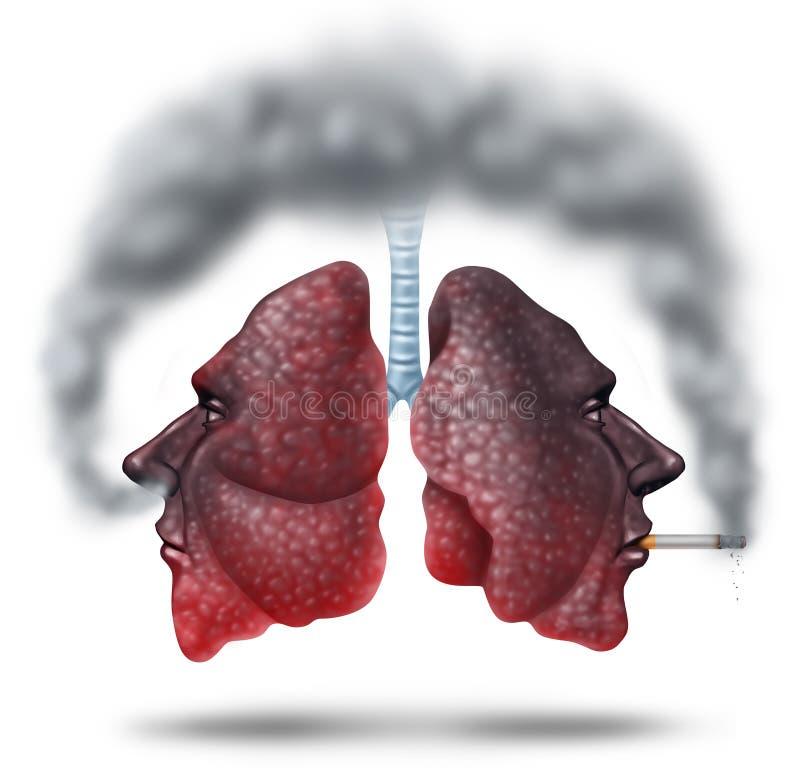 Подержанный дым иллюстрация штока
