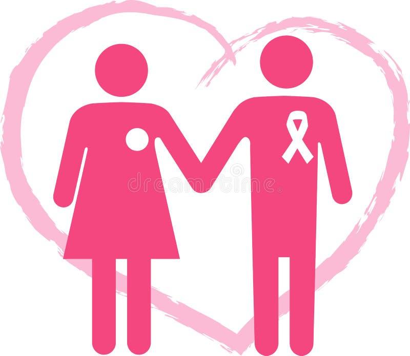 Поддержите оставшийся в живых рака молочной железы иллюстрация вектора