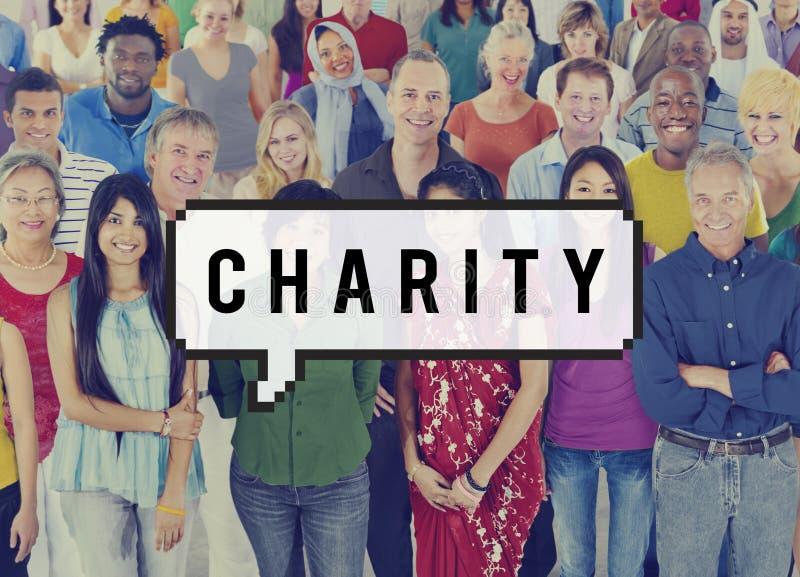 Поддержка шедрости пожертвования благосостояния призрения дает концепцию помощи стоковые изображения rf