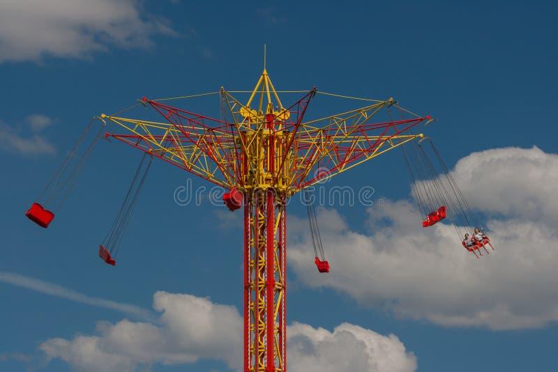 Полет на carousel стоковое фото rf