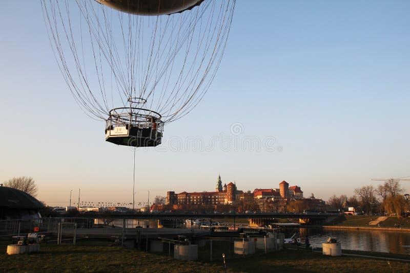 Полет на cracow стоковое фото rf