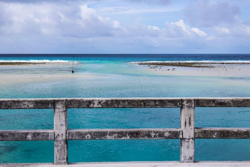 Полет острова Кирибати в лето 2016 стоковые фото