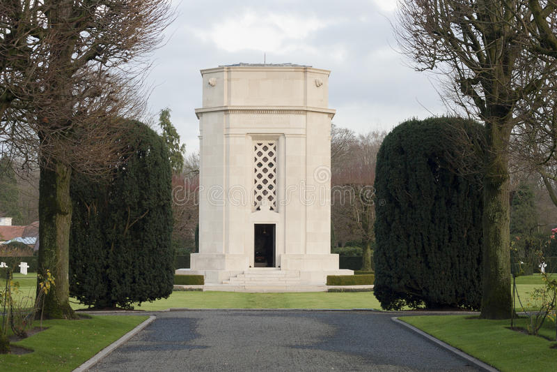 Поле Бельгия Waregem Фландрии кладбища Первой Мировой Войны американское стоковая фотография