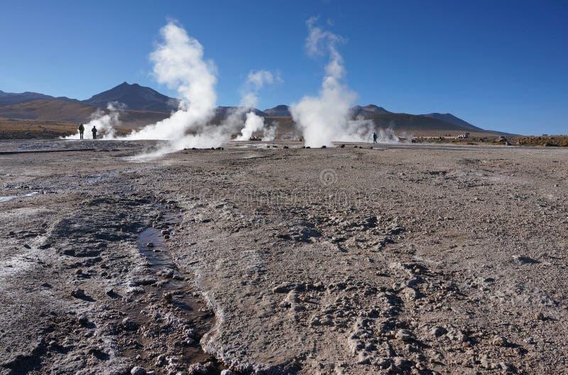 Поле гейзера, Чили стоковая фотография rf