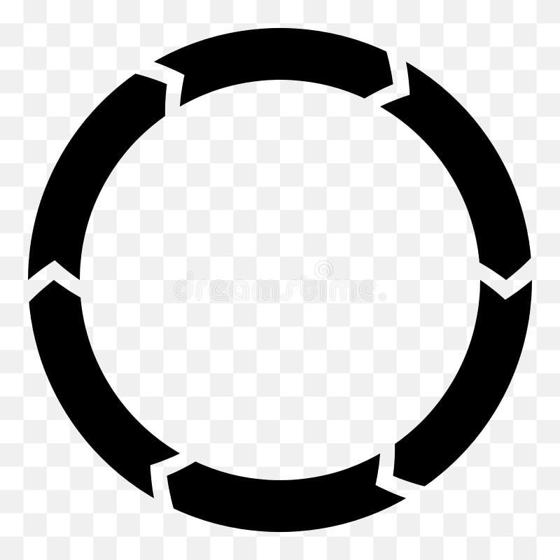 Download Поделенная на сегменты стрелка круга Круговой значок стрелки Процесс, Progres, R Иллюстрация вектора - иллюстрации насчитывающей освежите, представление: 81813355