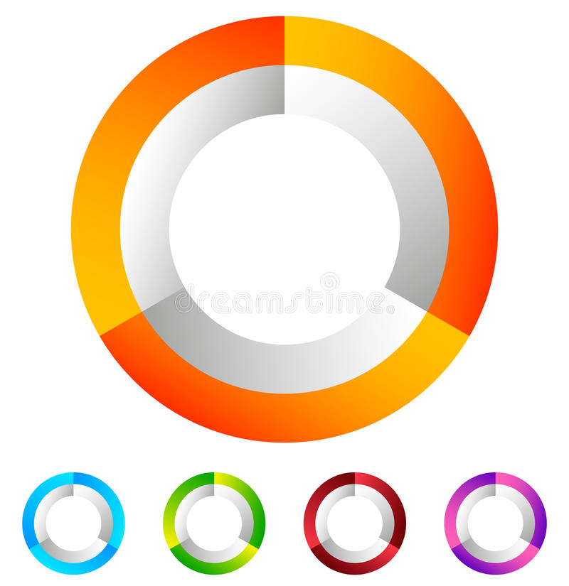 Download Поделенный на сегменты значок круга родовой абстрактный, круговой геометрический логотип Иллюстрация вектора - иллюстрации насчитывающей bluets, элемент: 81805862