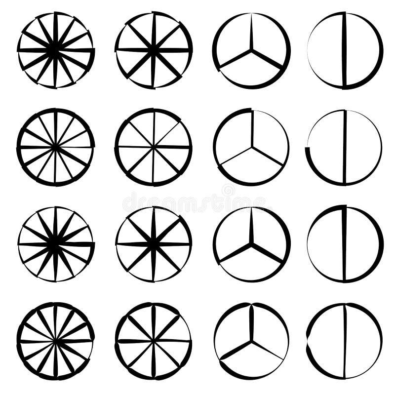 Download Поделенный на сегменты круг - долевая диограмма, комплект плана диаграммы пирога Иллюстрация вектора - иллюстрации насчитывающей конспектов, royalty: 81814725
