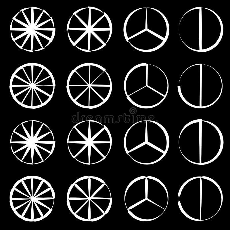 Download Поделенный на сегменты круг - долевая диограмма, комплект плана диаграммы пирога Иллюстрация вектора - иллюстрации насчитывающей кругло, кругово: 81814726