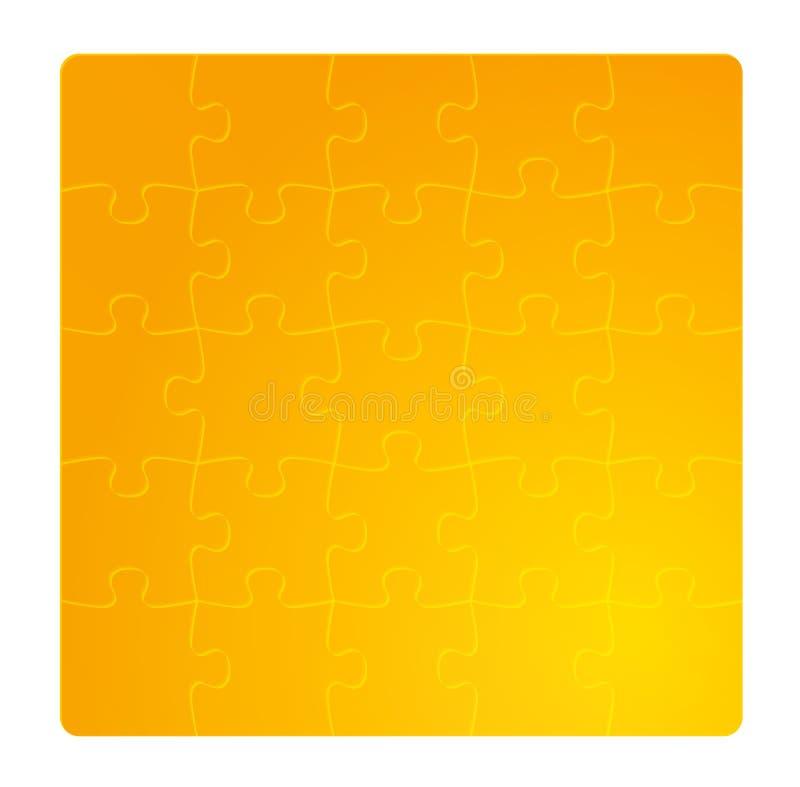 Поле золота градиента головоломок иллюстрация вектора