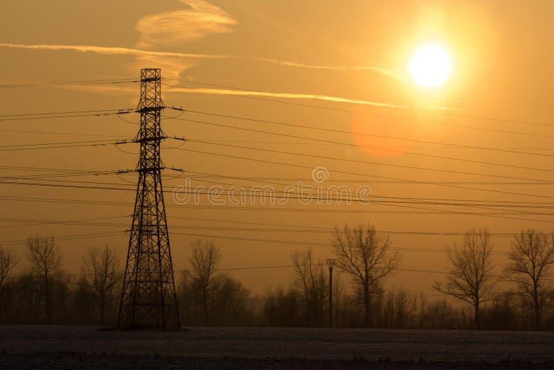 поле над заходом солнца стоковые фото