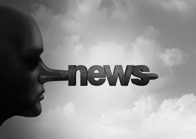 Поддельная концепция новостей иллюстрация штока