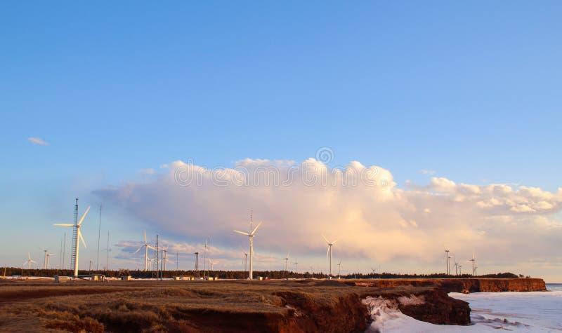 Поле энергии ветра стоковые фото