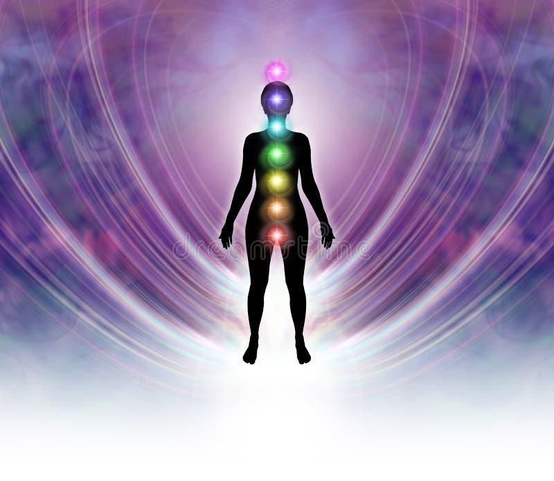 Поле энергии Chakra бесплатная иллюстрация