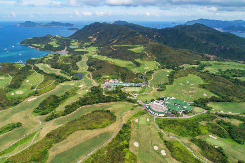 Поле для гольфа публики Kau Sai Chau клуба жокея стоковые фото