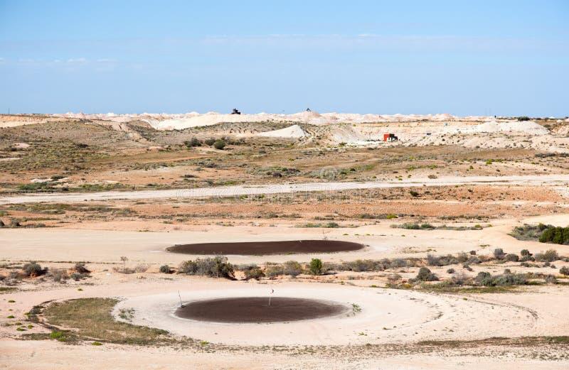 Поле для гольфа пустыни стоковые изображения rf