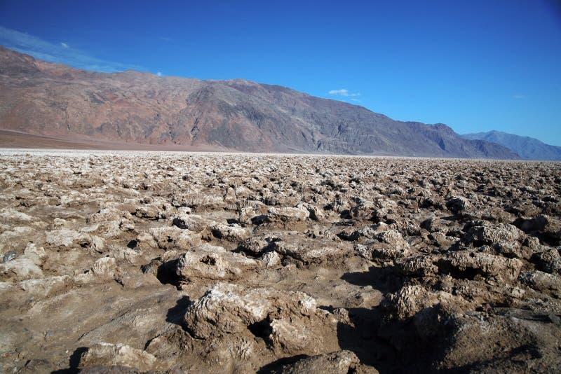 Поле для гольфа дьявола, национальный парк Death Valley, Калифорния, США стоковое изображение rf