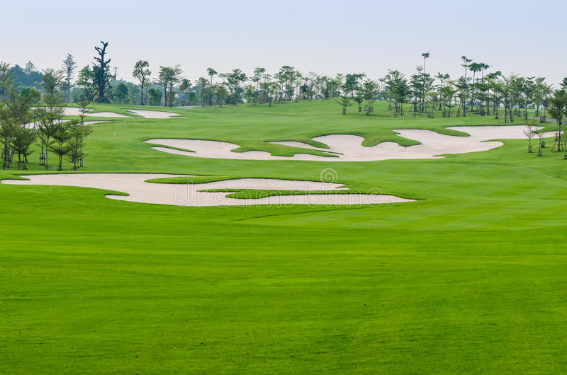 Поле для гольфа стоковые фото