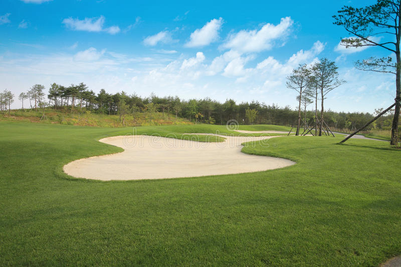 Поле для гольфа стоковые фотографии rf