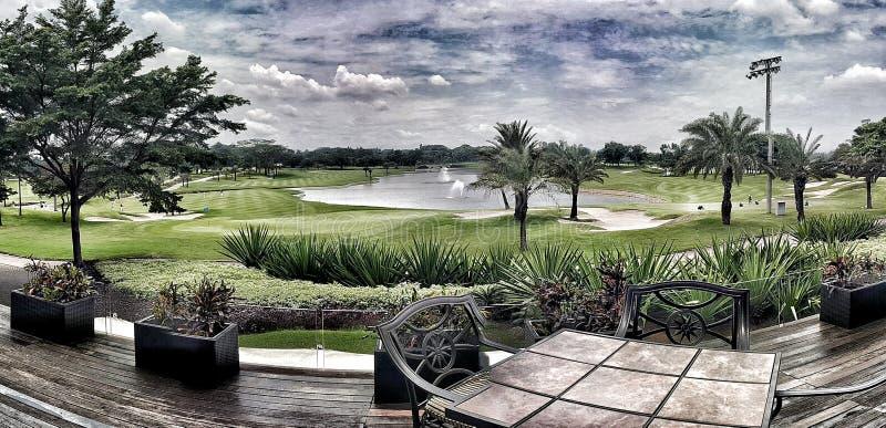Поле для гольфа Halim Индонезия Джакарты стоковое изображение rf