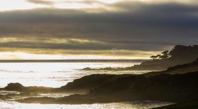 Поле для гольфа Pebble Beach, Монтерей, Калифорния, США стоковые изображения