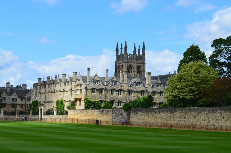 Поле Merton, Оксфорд, Великобритания стоковое изображение rf