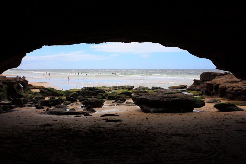 Пляж подземелиь стоковые фотографии rf