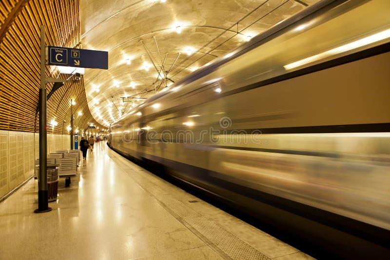 Подземный вокзал в Монако. стоковые фото