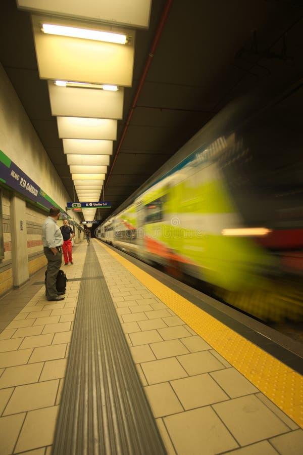 Подземный милан станции Garibaldi стоковое изображение rf