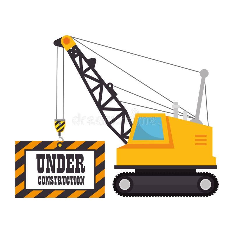Под значком строительной техники иллюстрация вектора