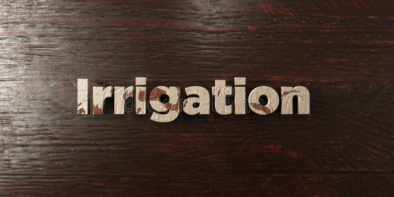 Полив - grungy деревянный заголовок на клене - представленное 3D изображение неизрасходованного запаса королевской власти бесплатная иллюстрация