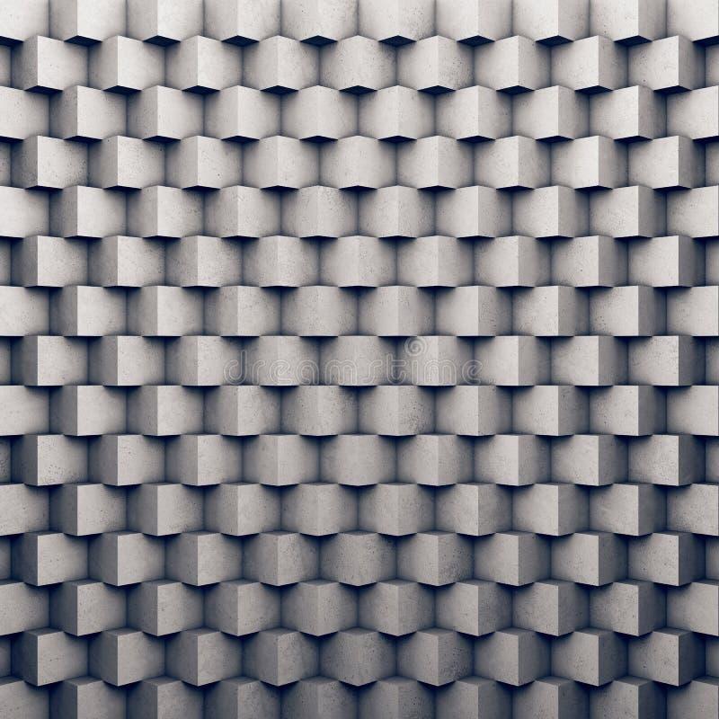 Полигональная бетонная стена как предпосылка иллюстрация вектора