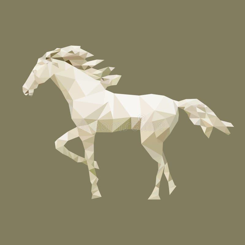 Полигональная лошадь, животное полигона, вектор иллюстрация вектора
