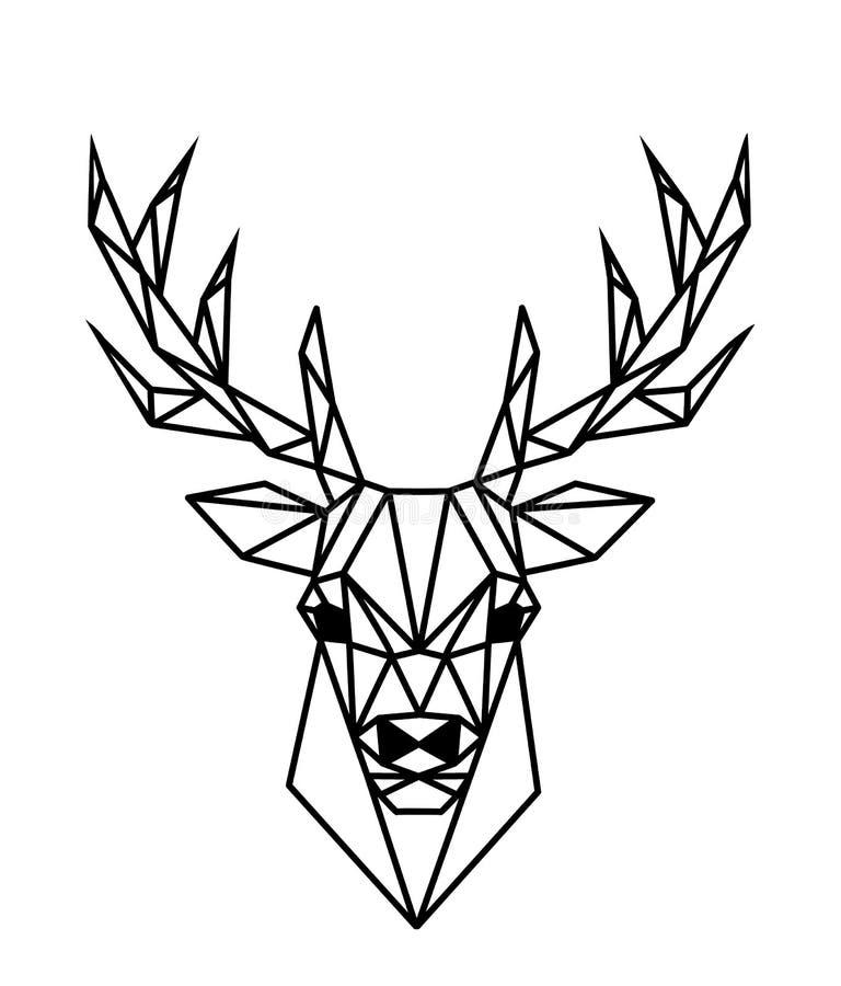 Полигональные олени бесплатная иллюстрация