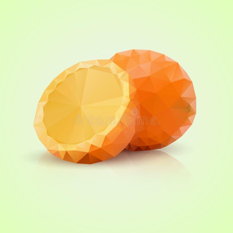 Полигональный апельсин стоковые изображения