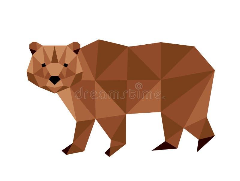 Полигональный медведь иллюстрация штока